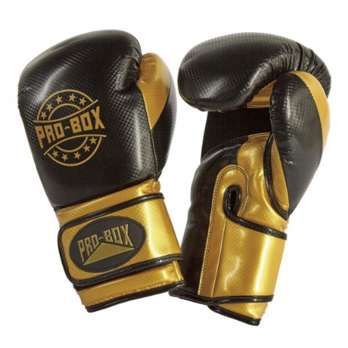 Pro-Box Champ-Spar Boxing Gloves - Black/Gold